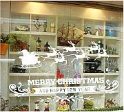 Tefamore Merry Christmas Xmas PVC Removable Display Window Showcase Decor Wall Stickers