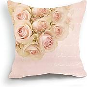 Produktbild: Telisha Retro Style Pink Rose Flower Home Decor Throw Cushion Cover Pillow Case Sham 18'' 45CM