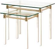 Couchtische glas gold g nstig online kaufen lionshome for Wohnzimmertisch 2 teilig