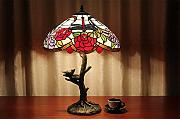 TOYM UK-16-Zoll-Continental Kreative Dragonfly Tiffany-Lampe