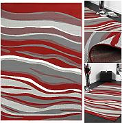Trendteppich Designteppich Günstig Online Kaufen   Lionshome Wohnzimmer Rot Grau