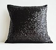 "TRLYC 16""*16"" Black Car Sequin Zipper Pillowcase Cushion Cover Home Sofa Glitter Pillow Decoration"