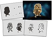 UMR-Design AS-318 Owl Airbrushschablone Step by Step Grösse L
