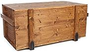 Uncle Joe´s 75769 Truhe Couchtisch Holzkiste, vintage, shabby chic Holz 85 x 45 x 46 cm, Hellbraun