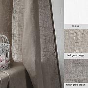 leinen vorh nge wei g nstig online kaufen lionshome. Black Bedroom Furniture Sets. Home Design Ideas