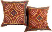 Vintage Baumwolle 43x43 Kissenbezug Couch Brown Elegant stickerei Cushion Cover Sofa Patchwork pillow case Set 2 Wohnzimmer Kissenbezüge By Rajrang