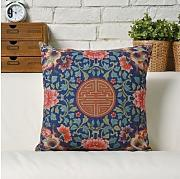 Vintage Chinese style cushion cover(auspicious flower pattern)