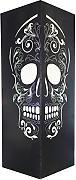 w-lamp Skull Collection Lampe mit, aus Papier, schwarz