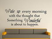 Produktbild: Wake up every morning as if something wonderful Wall Art Sticker - Black, Large by Fingerprints