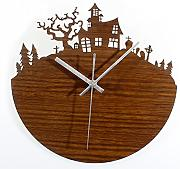 Wall Clock Forest Bungalow Fashion Creative Stereo Wald Retro Garten Wand