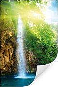 Wandbilder - Wallprint W - Blue Waterfall