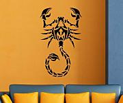 Wandtattoo Skorpion Tier Tribal Tattoo Wand Dekoration Sticker Aufkleber 1U022, Farbe:Pastellorange glanz;Hohe:65cm