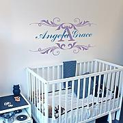 Wandtattoo/Wandsticker, Vinyl, Motiv: Abstract Flowers Wandaufkleber Kinderzimmer Wandaufkleber Home Kunst Dekoration