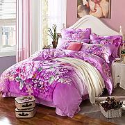 bettdecken set lila g nstig online kaufen lionshome. Black Bedroom Furniture Sets. Home Design Ideas