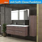 Produktbild waschplatz badezimmer doppelwaschbecken for Badschrank doppelwaschbecken