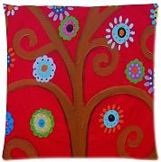 Produktbild: WECE Hot Selling Mexican Style Tree Flower Floral Pillow Case 18x18 inch (one side)