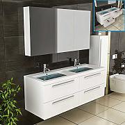 Doppelwaschbecken maße  Badmöbel Mit Doppelwaschbecken günstig online kaufen | LIONSHOME
