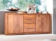 WHITNEY Mountain Sideboard, sheesham gebeizt
