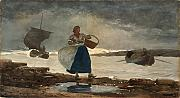 Winslow Homer - Inside the Bar - Small - Archival Matte - Brown Frame