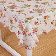Produktbild: Wipe Clean PVC Vinyl Tablecloth Dining Kitchen flower Table Cover Protector Size 106x152cm Style 2