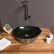 Aufsatzwaschbecken Oval günstig online kaufen | LIONSHOME | {Waschbecken rund stein 85}
