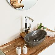 Waschbecken rund stein  WOHNFREUDEN Waschbecken oval günstig online kaufen | LIONSHOME