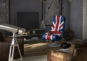 WOHNLING SPECTER Soundsessel 2.1 | Gaming Multimedia Rocking Chair | Music Rocker Soundchair | Multimediasessel UK Union Jack