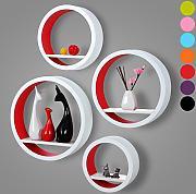 dvd wandregal rot g nstig online kaufen lionshome. Black Bedroom Furniture Sets. Home Design Ideas