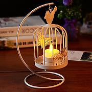 X&L Continental Eisen Birdcage Leuchter kreative retro Ornamente Home Decoration Kerzenhalter Dekoration