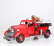 X&L Kreative Metall fire engine Modell Geschenke Hausbar Dekoration (40 * 14 * 18cm)