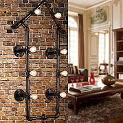 XIAOJIA Retro Metall Creative Rohr Wand Lampe Living Room Bar Bar Flur Schlafzimmer Showroom dekorative Beleuchtung