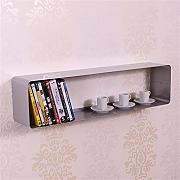 XXL DVD & BLU-RAY REGAL LOUNGE DESIGN CUBE von DESIGN DELIGHTS retro metall wand rack silber