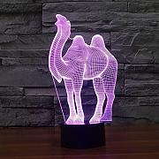 Produktbild: XYDKSMB® Camel Bunte 3D-Touch-Tischlampe kreative Energiesparlampe LED-Lampe Illusion