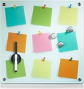 "Zeller 11640 Memoboard ""Notes"", Glas"