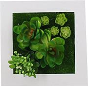 Zhhlaixing Artificial Succulents Wall Hangings Imitation Flowers Planter Fake Flora Bonsai Vertical Home Garden Hangings in Decorative Frame