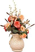Zhhlaixing Prämie Quality Artificial Flowers and Plants for Indoor Decoration with Resin Vase