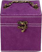 Zhhlaixing Suede Velvet Jewelry Jewellery Box with 3 Removable Layers for Necklace / Bracelet / Earrings / Pendants