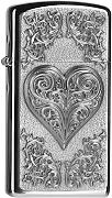 Produktbild: Zippo 2004523 Feuerzeug Heart with Ornaments Slim