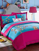 ZQ besticktes Muster Betten Sets Queen King Size Tagesdecke King Size Multi Colored