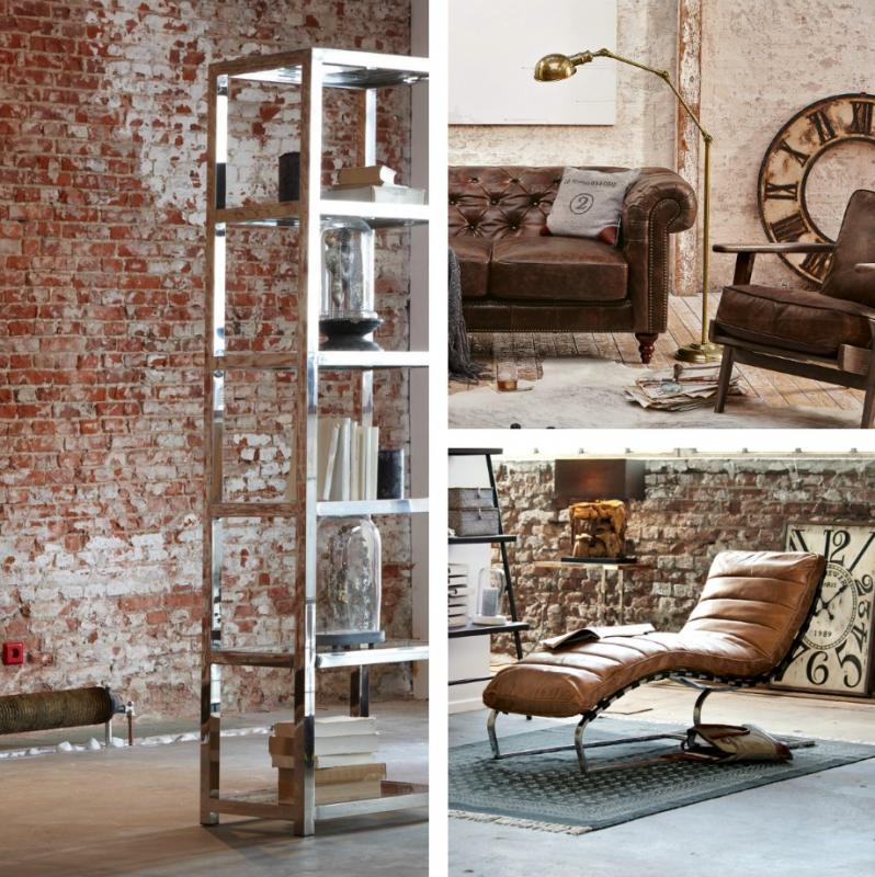 loft mit beton und klinker einrichtung, industrie-chic: wohnen wie im loft | lionshome, Design ideen