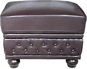 Invicta Interior Edler Design Chesterfield Fußhocker Braun Polsterhocker Sofahocker Hocker