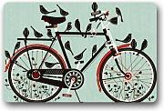 Xdevrbk Novelty Design Custom Bicycle Doormat Machine-Washable Floor/Bath Decor Mats Rug